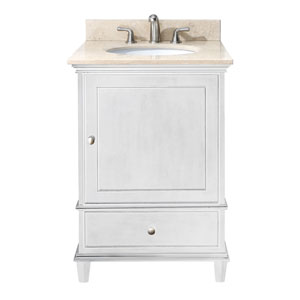 Windsor 24-Inch Vanity Only in White Finish