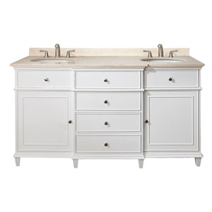 Windsor 60-Inch Vanity Only in White Finish