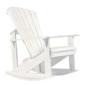 Generations Adirondack Rocking Chair-White