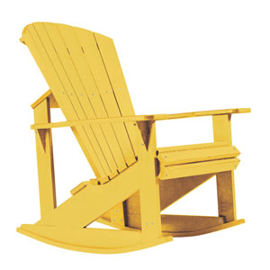 Generations Adirondack Rocking Chair-Yellow