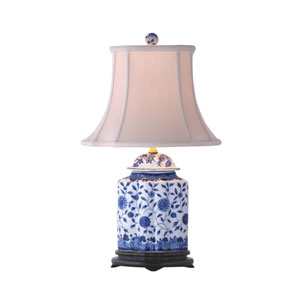Blue and White Scalloped Table Lamp