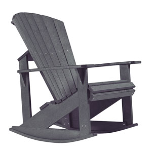 Generations Adirondack Rocking Chair-Slate Grey