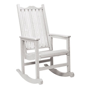 Generations Casual Porch Rocker-White