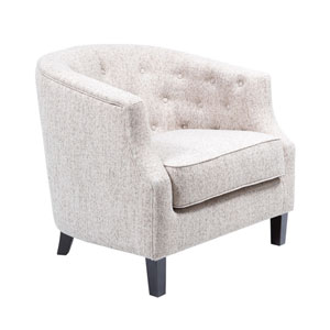 Ansley Cream Chesterfield Barrel Chair