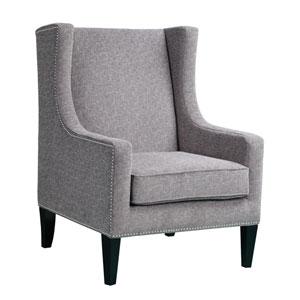 Barton Gray Wing Chair
