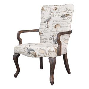 Arnau Cream with Birds Goose Neck Arm Chair