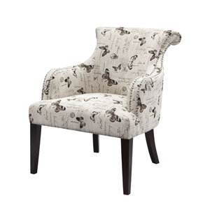Alexis Butterfly Rollback Accent Chair