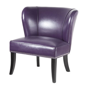 Hilton Purple Armless Accent Chair