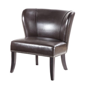 Hilton Brown Armless Accent Chair