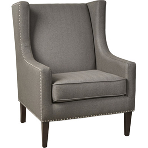 Barton Charcoal Wing Chair
