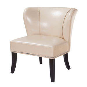Hilton Ivory Armless Accent Chair