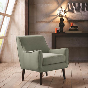 Oxford Gray Mid Century Modern Accent Chair