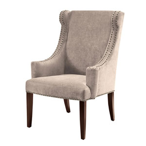 Marcel Taupe High Back Wing Chair
