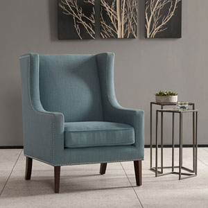 Barton Blue Wing Chair