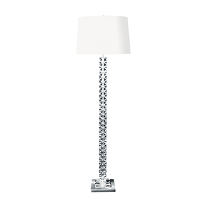 Crystal Clear One-Light Floor Lamp