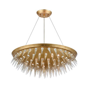 Sting Gold Leaf Seven-Light Chandelier