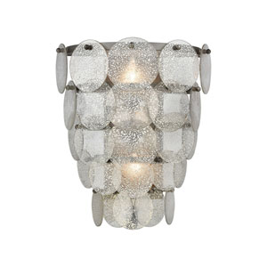Airesse Brushed Slate with Mercury Glass Two-Light Wall Sconce