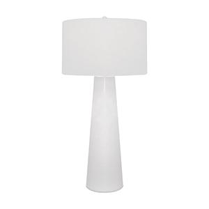 Obelisk White One-Light Table Lamp