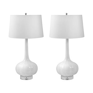 Del Mar White One-Light Table Lamp (Set of Two)