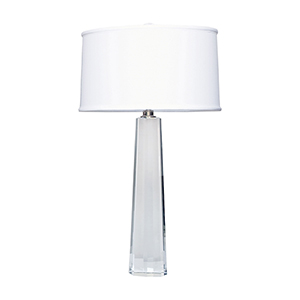 Crystal Clear One-Light Table Lamp