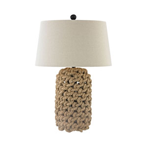 Nature Rope and Oil Rubbed Bronze 29-Inch One-Light Table Lamp