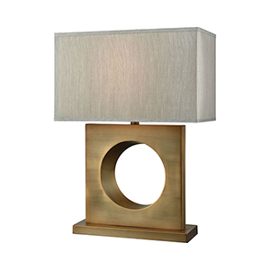 Ingresse Weathered Antique Brass One-Light Table Lamp