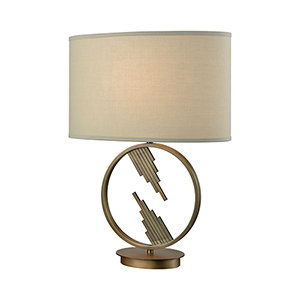 Empire Statement Weathered Antique Brass One-Light Table Lamp