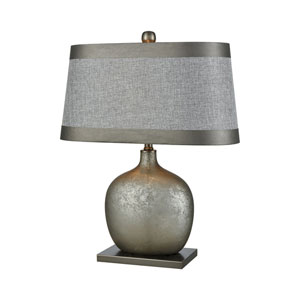 Iago Pewter and Grey Tierra 25-Inch One-Light Table Lamp