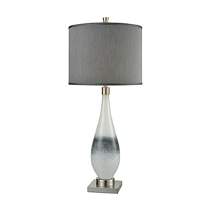 Vapor Brushed Nickel One-Light Table Lamp
