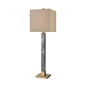 The Guvner Cafe Bronze and Grey Marble One-Light Table Lamp