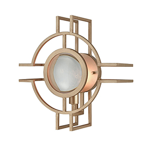 Lens Flair Matte Gold Three-Light Wall Sconce