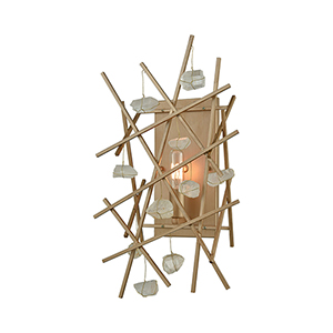 Massive Impact Antique Gold One-Light Wall Sconce