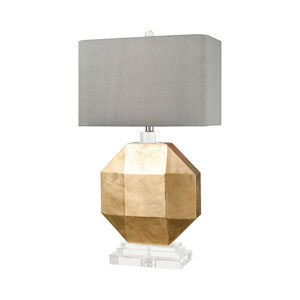 Alcazaba Gold Leaf and Clear Crystal 29-Inch One-Light Table Lamp