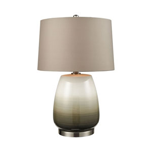 Salton City Grey Ombre With Nickel 25 Inch One Light Table Lamp