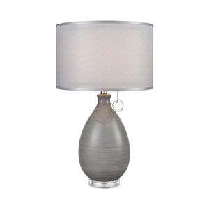 Clothilde Grey Glaze with Clear Acrylic 26-Inch One-Light Table Lamp