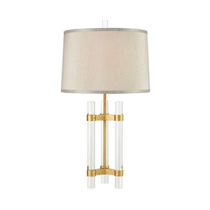 Courtier Clear and Gold 28-Inch One-Light Table Lamp