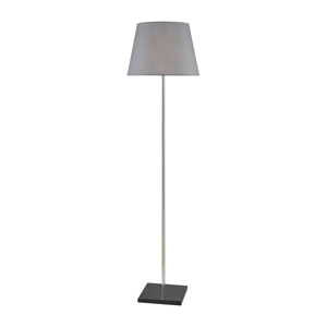 Antwerp Black Marble and Polished Nickel 61-Inch One-Light Floor Lamp