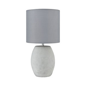 Smolder Polished Concrete 14-Inch One-Light Table Lamp
