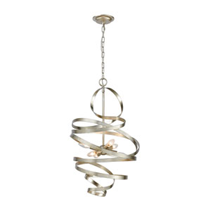 Gliss Silver Leaf Six-Light Chandelier