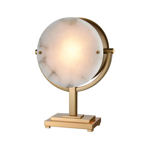 Sunset Boulevard Cafe Bronze and Natural Alabaster 21-Inch One-Light Table Lamp