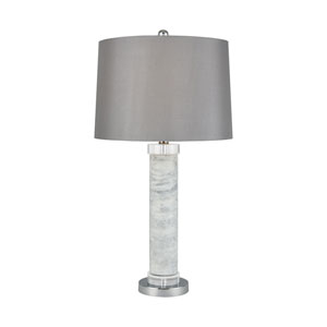 Peterhof Palace White Marble and Clear Crystal 29-Inch One-Light Table Lamp