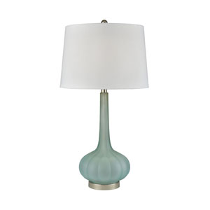 Emerald Isle Frosted Aqua 29-Inch One-Light Table Lamp
