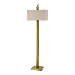 Azimuth Weathered Antique Brass 69-Inch Two-Light Floor Lamp