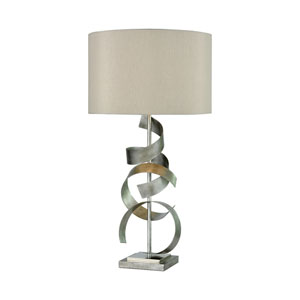 Gust Antique Silver and Polished Nickel 29-Inch One-Light Table Lamp