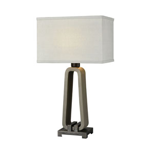 De Force Concrete and Bronze 28-Inch One-Light Table Lamp