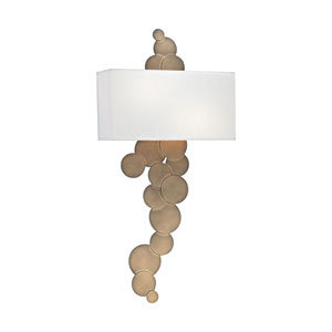 Holepunch Gold Leaf Two-Light Wall Sconce