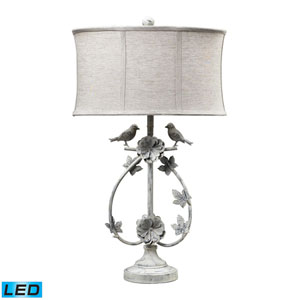 Saint Louis Heights Antique White One Light LED Table Lamp