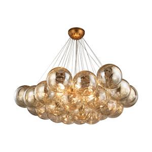 Cielo Antique Gold Leaf Six-Light Chandelier