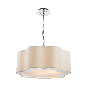 Villoy Polished Stainless Steel and Polished Nickel Six-Light Pendant