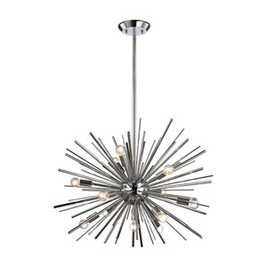 Starburst Polished Chrome 12-Light Pendant